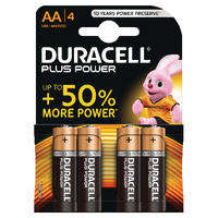 Duracell Plus AA Battery Pk4