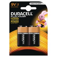 Duracell Plus Battery 9V Pk2