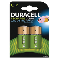 Duracell Size C Rechargeable Battery Pk2