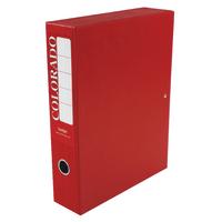 Rexel Colorado A4 Red Box File Pk5