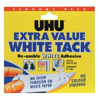 UHU White Tack Economy Pack 129g Pk6