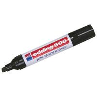 Edding 500 Black Chisel Perm Marker Pk10