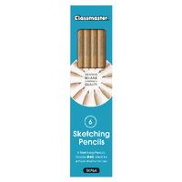 Classmaster Sketching Pencils Pk6