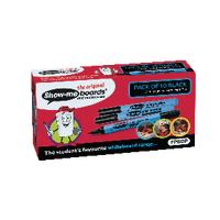Show-me Black Fine Drywipe Marker Pk10