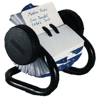 Rolodex Black 250 Rotary Open Card File