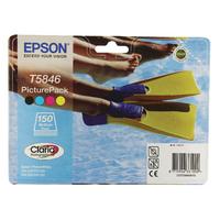 Epson T5846 Bk/C/M/Y Inks/Photo Paper