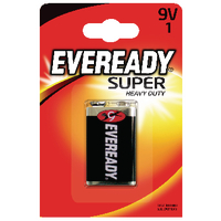 Eveready Super Heavy Duty 9V Battery