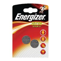 Energizer Lithium Battery Pk2 CR2016