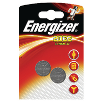 Energizer Lithium Battery Pk2 CR2032