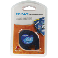 Dymo Blue Letratag Tape 12mmx4m S0721650