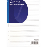 Filofax White A5 Ruled Paper Pk25
