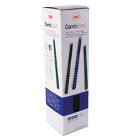 GBC Black 10mm Bind Combs 4028175 Pk100