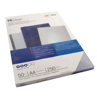 GBC A4 Clear Binding Covers 250Mic Pk50