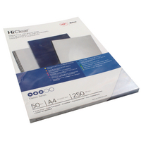 GBC A4 S/Clr Binding Covers 250Mic Pk50