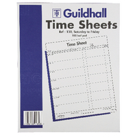 Guildhall Work Time Sheets Sat-Fri Pk100