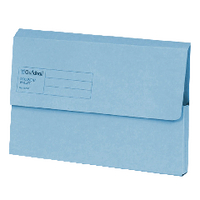 Guildhall Blue Document Wallet Pk50