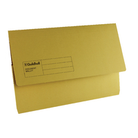 Guildhall Yellow Document Wallet Pk50
