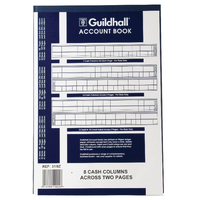 Guildhall 8 Cash Columns Account Book