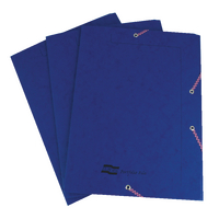 Europa Portfolio File A4 Dark Blue Pk10
