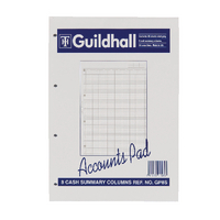 Guildhall A4 Account Pad 8-Column GP8S