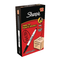 Sharpie Black Twin Tip Marker Pk12