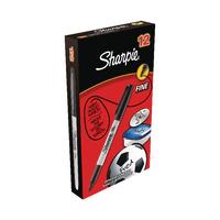 Sharpie Black Permanent Marker Fine Pk12