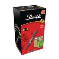 Sharpie Blk W10 Perm Chisel Marker Pk12