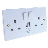 Connekt Gear 2 Socket/2 USB Ports 2A