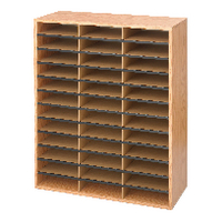Safco 36 Part Literature Organiser Oak