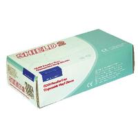 Shield PF Med Clear Vinyl Gloves Pk100