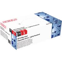 Shield Vinyl Gloves Blue Small Pk100