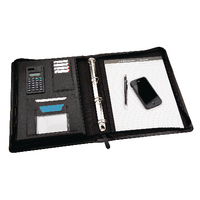 Monolith Zip Ring Binder With Pad A4 Bk