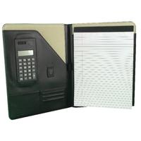 Monolith Leather Conf Folder A4 Blk
