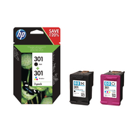 HP 301 Ink Cartridge Pk 2 N9J72AE