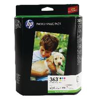 HP 363 Photo Cartridge/Paper Pck Q7966EE