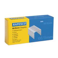 Rapesco Staples 8mm 66/8mm Pk5000