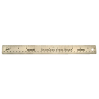 Helix Stainless Steel Ruler 12in/30cm