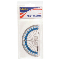 Helix Clear Plastic 10cm Protractor Pk10