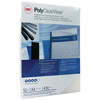 GBC A4 Clearview Frosted Bind Cover Pk50