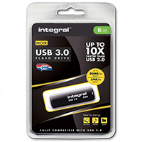 Integral Black Noir USB 8GB Flash Drive