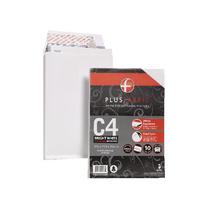 Plus Fabric White C4 Gusset Env Pk10