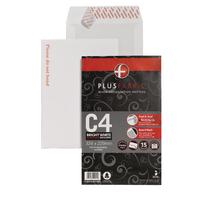 Plus Fabric White C4 B/Backed Env Pk15