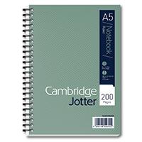 Cambridge A5 Ruled Jotter Notebook Pk3