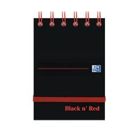 Black n Red A7 Hardback Notebook Pk5