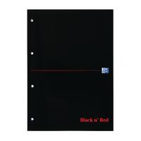 Black n Red A4 Refill Pad Feint Pk3