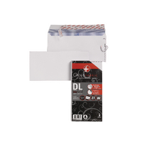 Plus Fabric White DL P/Seal Envelope P25