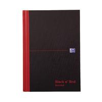 Black n Red A5 Hardback Ruled Notebook