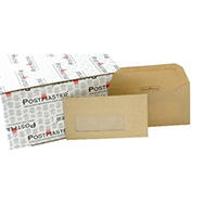 Postmaster Gum DL Window Envelopes Pk500
