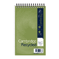 Cambridge Recycled Wire Notebook Pk10
