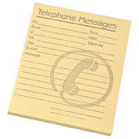 Challenge Telephone Message Pad Pk10